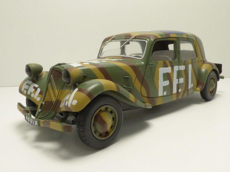 CITROEN TRACTION 11CV FFI 1 18 1944 WW2