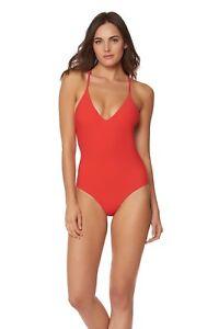 Red Carter Swim  Red Stripy  Sexy Baywatch Swimsuit XS $180