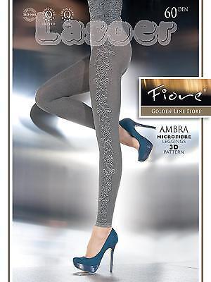 █▬█ █ ▀█▀ Sexy Leggings, Bezauberndes Design, 60 Den, S-L 36-46