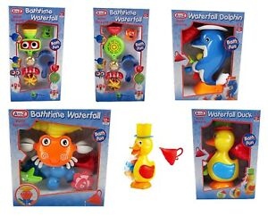 Bath-Toy-Waterfall-CRAB-Dolphin-DUCK-Baby-Toddler-Toy-Kids-Bath-Time-Fun