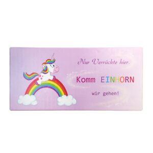 Details zu Einhorn Bild Kinder Wandbild Keilrahmen Mädchen Kinderzimmer  Regenbogen 33x70cm
