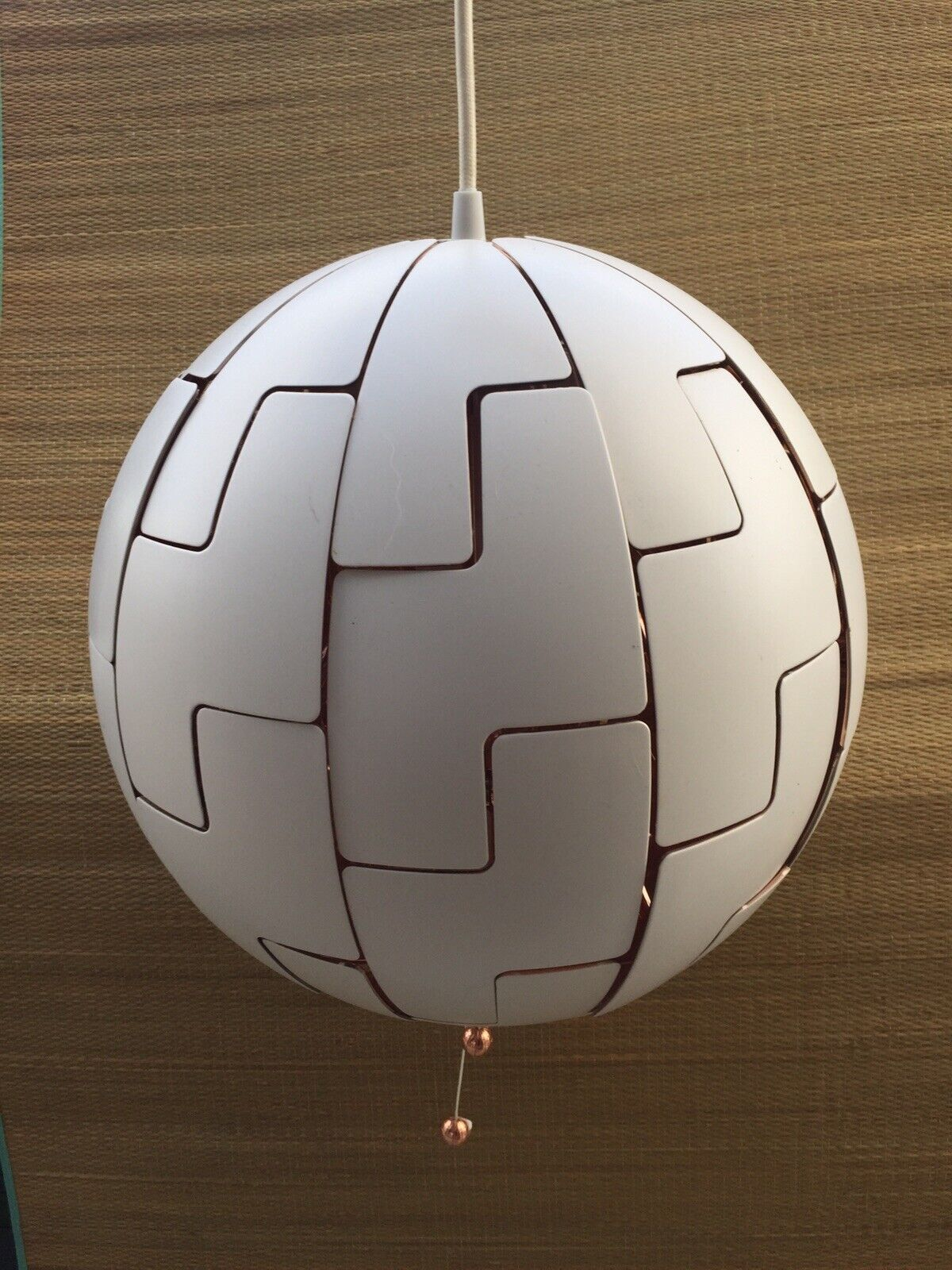 Ikea Ps 2014 Pendant Ceiling Light White Copper Death Star 35cms For Sale Online Ebay