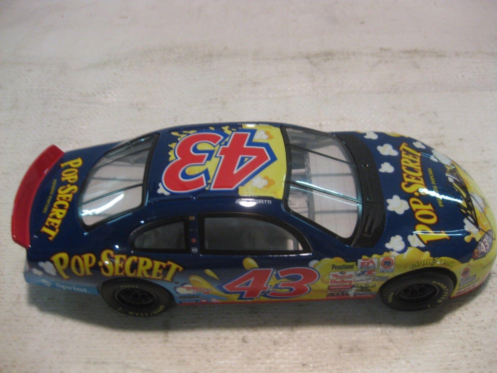 Nascar John Andretti Pop Secret Dodge RT 124 Scale Diecast Mattel 2000 dc681