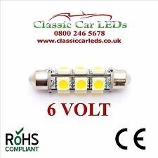 6 voltios 6V 42 43 mm Festoon Bombilla LED 12 SMD Coche Clásico Moto Scooter GLB273