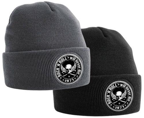 Rock n Roll Ski Hat Damen Herren Biker Cap Wollmütze Wintermütze Oldschool