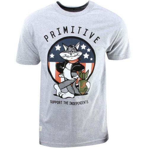 gray // athletic heather Primitive Tom Cat Tee