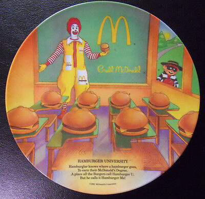 VINTAGE 1989 McDonald/'s Plate-Hamburger University