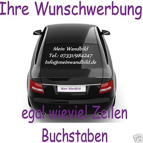 Ihre Eigene Wunsch Werbung für Auto /& Sprinter  Heckscheibenwerbung 150cm
