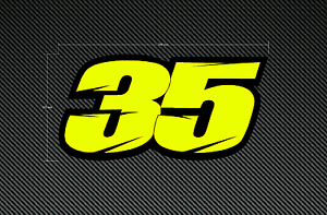 CAL CRUTCHLOW 35 Sticker/Decal 200mm x 102mm - Fluorescent & Laminated - Moto GP