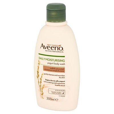 Aveeno Daily Moisturising Yogurt Body Wash Vanilla and Oat 300ml