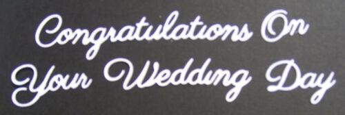 Britannia Dies Congratulations On Your Wedding Day Word Set Cardmaking