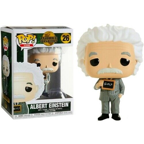World History; 26 Albert Einstein POP VINYL FIGURE FUNKO POP Icons Series