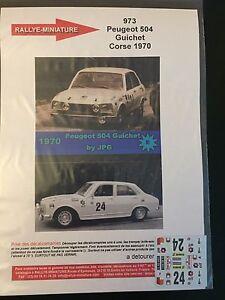 DECALS-1-43-PEUGEOT-504-GUICHET-RALLYE-TOUR-DE-CORSE-1970-WRC-RALLY