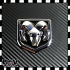 Fit Ram Dodge 1500 2500 3500 Chrome Black Emblem Tailgate Ram Head Medallion
