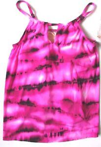 Kirkland Miraclesuit Tankini Top Pink Tie Dye Design Uk 10 Swimming