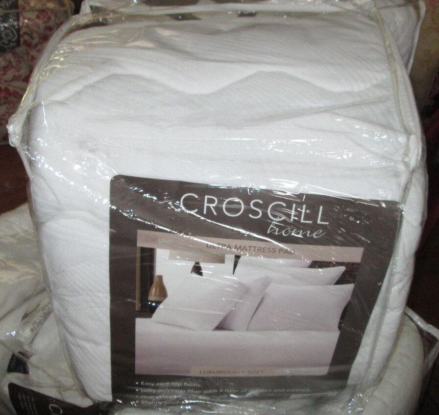 Croscill ULTRA King Mattress Pad HEAVYWEIGHT PADDED NEW
