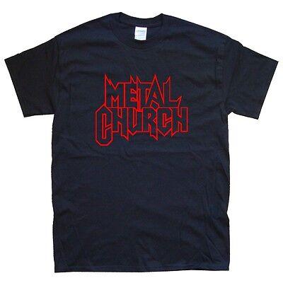 White METAL CHURCH T-SHIRT sizes S M L XL XXL colours Black