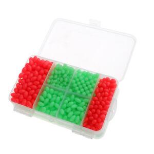 1000pcs PVC NIght Glow Fishing Beads 8 Size Mixed For Sea Fishing Rigs w//Box