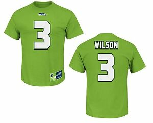new product 82758 fa3b5 Details zu NFL T-Shirt Name Number SEATTLE SEAHAWKS Wilson 3 green Eligible  Receiver Trikot