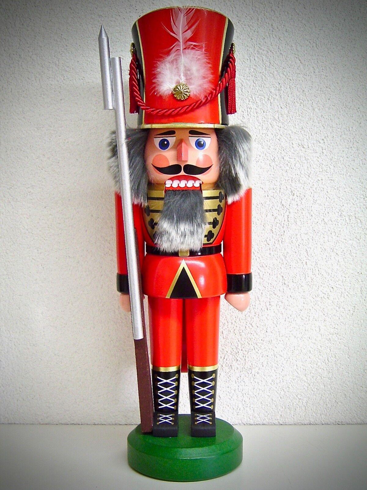 Casse-Noisette Soldat Rouge 38 cm Véritable Erzgebirge 15735
