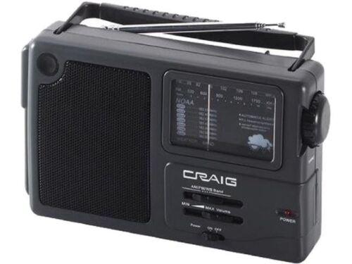 CRAIG CR4181W AM FM  PORTABLE RADIO  W// WEATHER BAND  w// **2 DAY SHIPPING*****