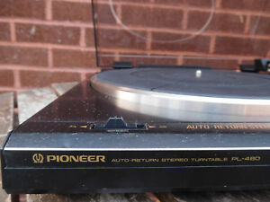 Pioneer-PL-480-Auto-Return-stereo-turntable-record-player-Made-Japan-New-Stylus