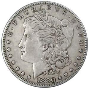 1880 Morgan Dollar VF Very Fine 90% Silver $1 US Coin Collectible