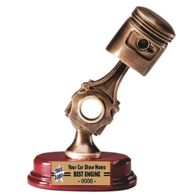 Three Dimensional Piston Resin Car Show Trophy Award Lettering EBay - Piston car show trophies