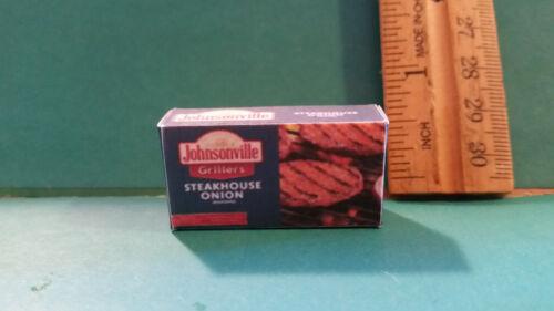 Barbie 1:6 Kitchen Food Miniature Handmade Box of Hamburger Patties bb