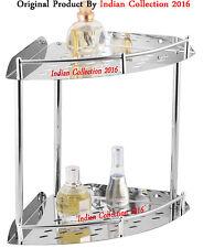 Multi Purpose Heavy Premium Range of Stainleess Steel Bathroom Corner Shelve