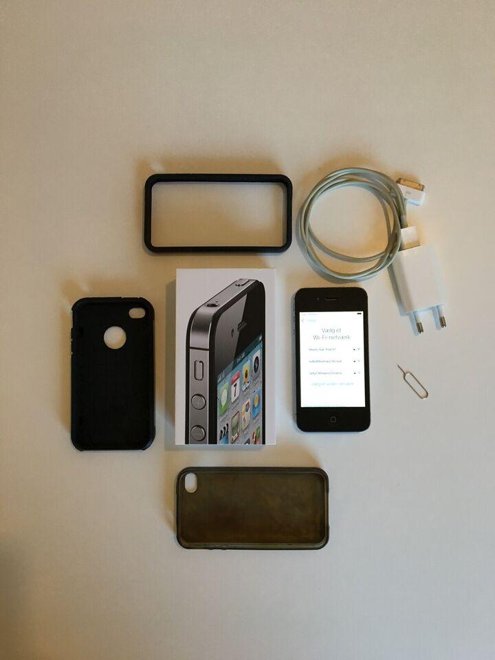 iPhone 4S, 16 GB, sort – dba.dk – Køb og Salg af Nyt og Brugt