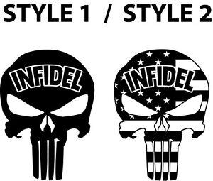 Large single or set of 2 american infidel usa punisher pro guns image is loading large single or set of 2 american infidel publicscrutiny Gallery