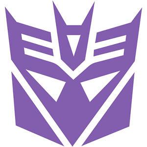 Transformer Decepticon Logo Skateboard Car Window Bumper PVC Decal Sticker