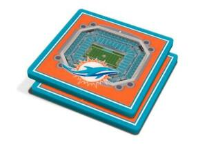 Miami Dolphins 3D Stadium Views Coaster Set (New) Canada Preview