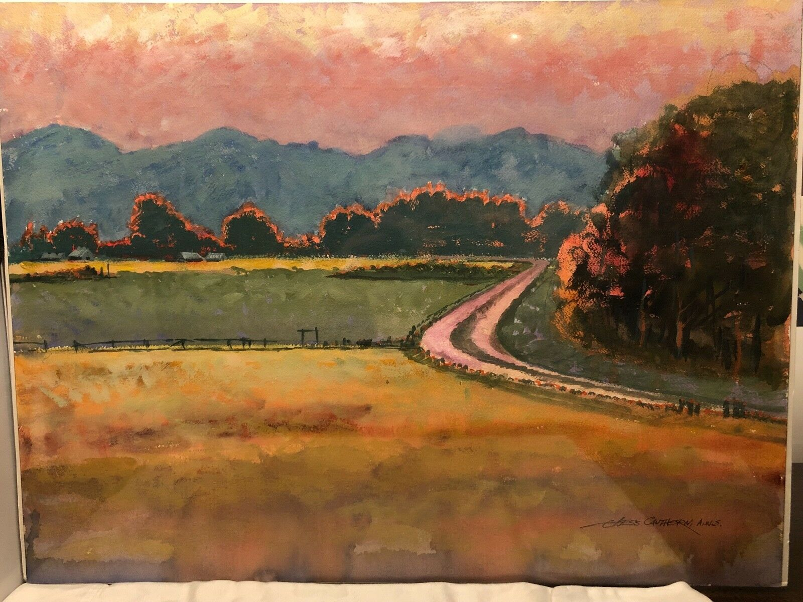Jess Cauthorn AWS Watercolor,Signed on eBay thumbnail