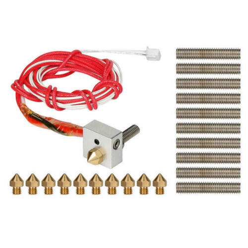 For MK8 3D Printer Assembled Extruder Hotend Hot End Kit With 10 Nozzle+Tubes