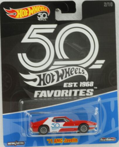 1:64 Hot Wheels 50th anniversary Favorites Real Riders 81 AMC Javelin