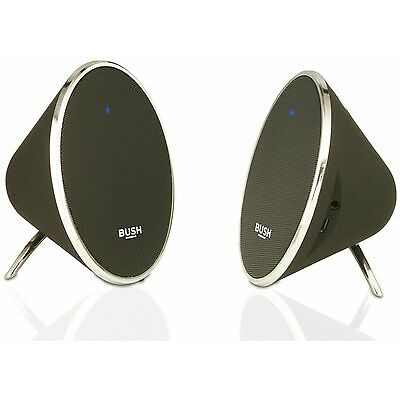 Bush Wireless Bluetooth Stereo Speakers - Black and Silver