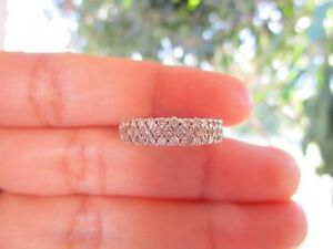 1.15 Carat Diamond White Gold Half Eternity Ring 18k codeHE31 sepvergara