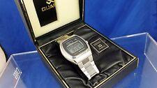 Reloj Digital Vintage Retro Seiko LCD LC Raro 0124-0030 de trabajo 1970s En Caja