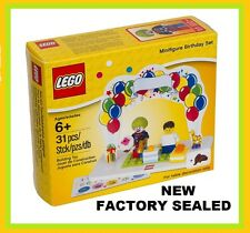 LEGO Birthday Cake topper set RARE MINIFIG Clown trumpet & Boy or Girl Hair NEW