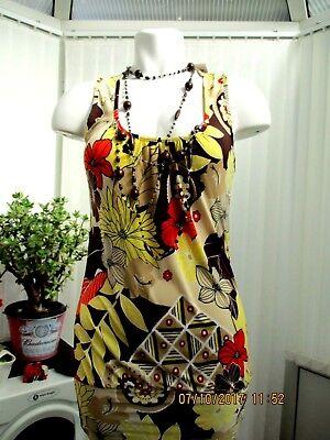"""""""bianco"""" Donna Multicolore A Fiori Top Taglia 14 B.n.w.t. Con Perline-mostra Il Titolo Originale Costo Moderato"""