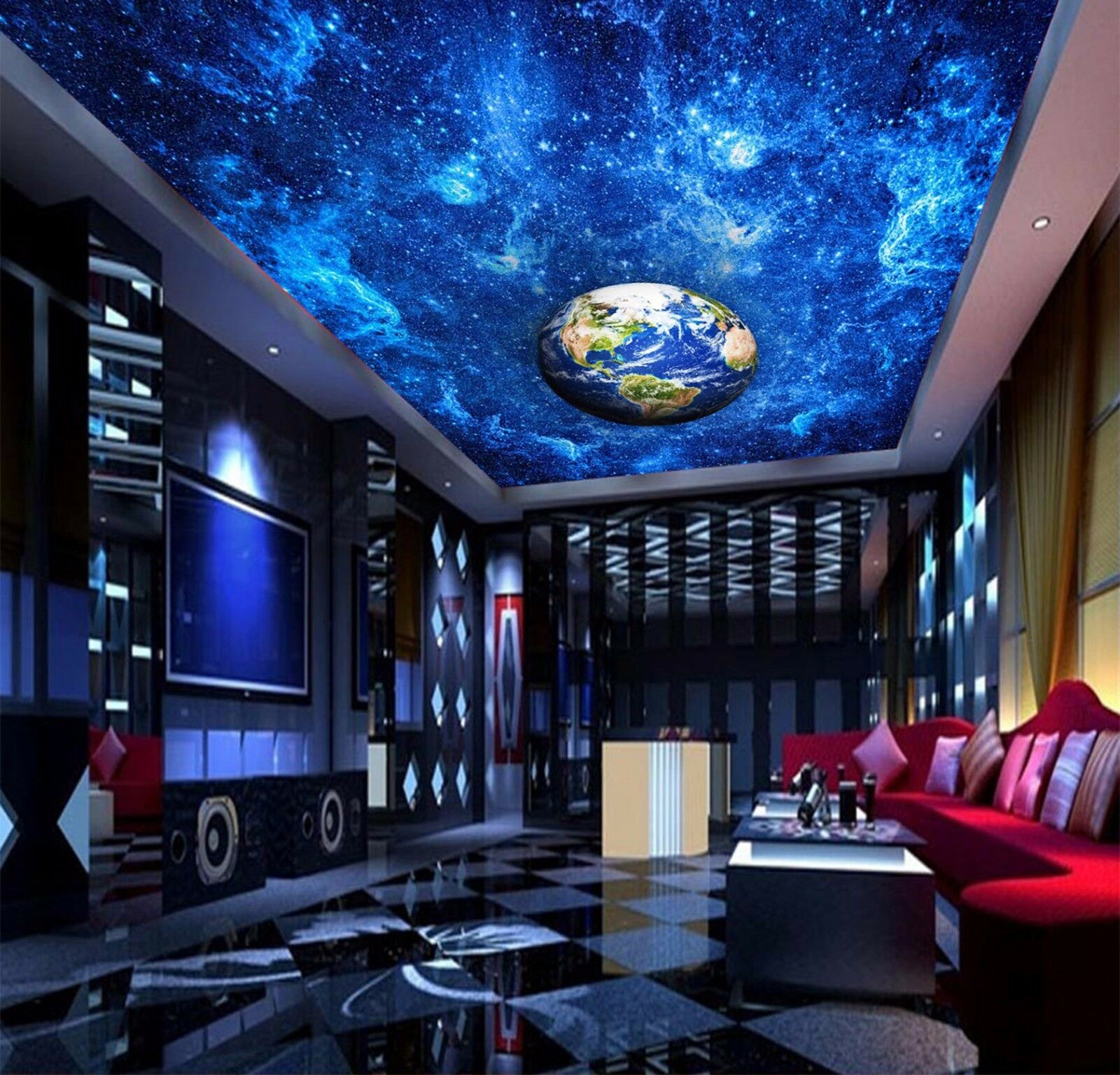 3D Planet Bule Bule Bule 6 Ceiling WallPaper Murals Wall Print Decal Deco AJ WALLPAPER AU 152895