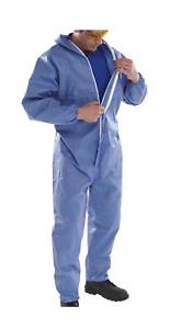 10x Einweganzug Asbestanzug Asbest TYP5/&6 Chemikalienschutz Schutzanzug Gr XL