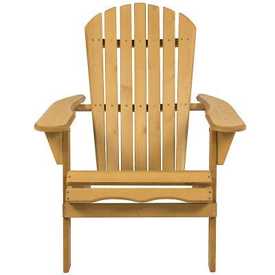 Outdoor Folding Natural Finish Hemlock Wood Adirondack Chair Lawn Yard Furniture Ebay