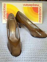 Vtg 80s Magdesians 5 1/2 M Clear Vinyl Patent Tortoise Pumps Heels Shoes