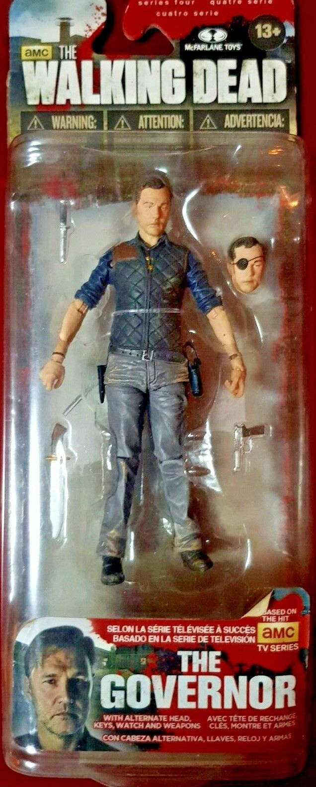 THE WALKING DEAD ACTION FIGURES IL GOVERNATORE THE GOVERNOR SERIE QUATTRO 4