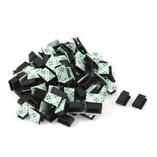 100 Pcs Adhesive Wire Cord Cable Holder Tie Clip Organizer Drop Clamp G1A4