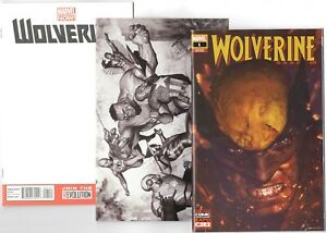 Wolverine-1-C2E2-Incredible-Hulk-181-FACSIMILE-EDITION-Blank-Variant-set