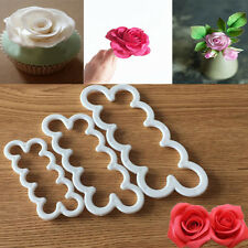 3stk 3D Fondant Blumen Cutter Ausstecher Kuchenform Tortendeko Sugarcraf Kraft
